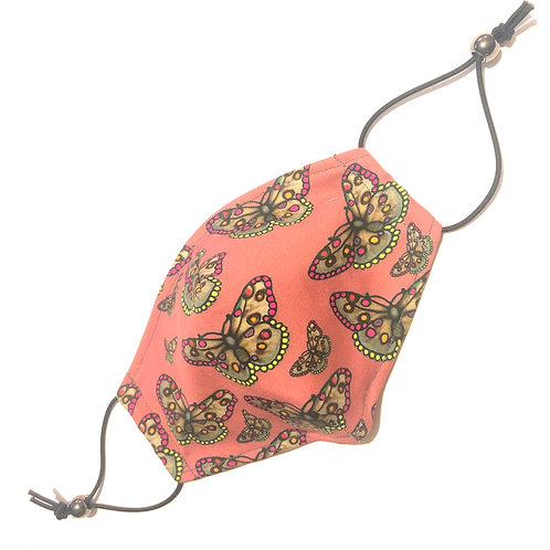 The  Butterfly Face Covering PINK -Small Children's and Medium Ladies