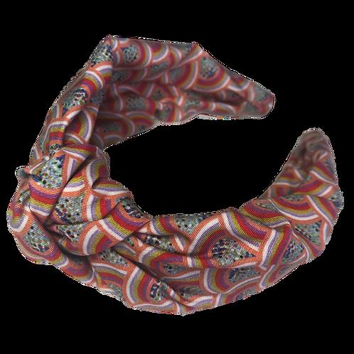 The Rainbow Headband-Coral