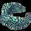 Thumbnail: The Rainbow Headband-Aqua, Mint and Purple