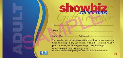 Showbiz Cinemas Adult Voucher