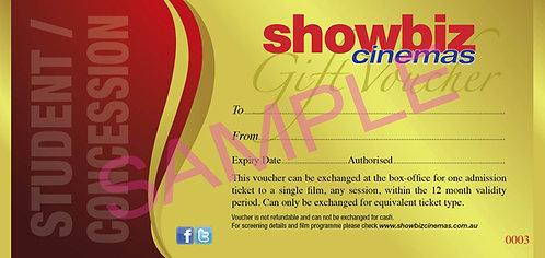 Showbiz Cinemas Student/Con Voucher