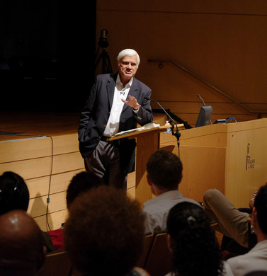 Ravi speaking at the Summer Institute
