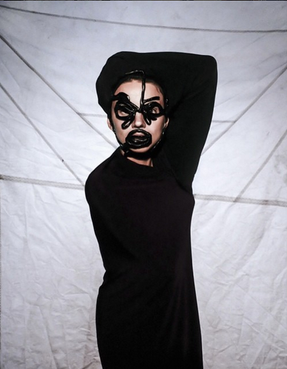 Contour Line Mask Shot and styled by Ian Miawaki