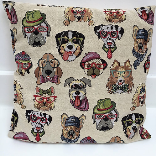 'Dogs at work' cushion cover