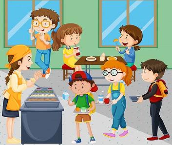 enfants-qui-dejeunent-cafeteria_1308-783