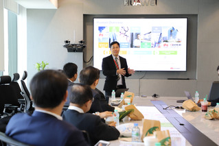 Visit Huawei to develop WU smart University and Digital Dentistry