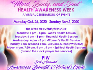 """""""Mind, Body, and Soul"""" Health Awareness Week"""