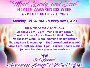 """Mind, Body, and Soul"" Health Awareness Week"