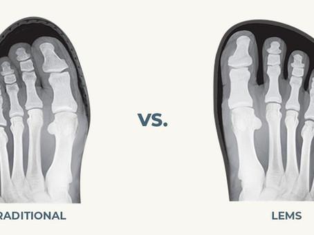 Schuhe mit einer natürlichen Zehen-Passform sind essenziell wichtig für die Fußgesundheit