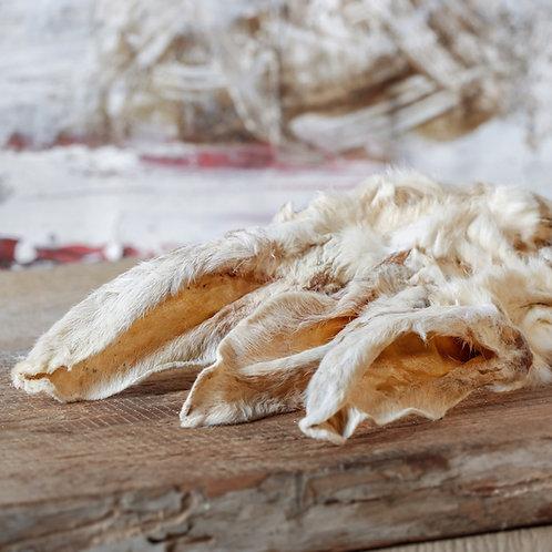 Kaninchenohren mit Fell getrocknet 100gr