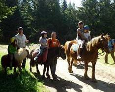 balade à poney en famille dans les paysages du Mézenc, aux Estables