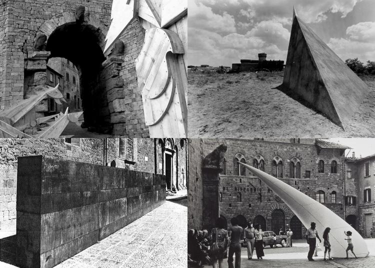 Le opere di Gianmarco, Staccioli, Carrino e Mazzucchelli a Volterra '73