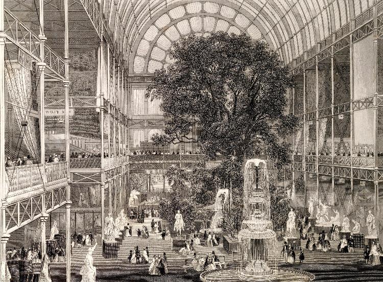 La Great Exhibition all'interno del Crystal Palace