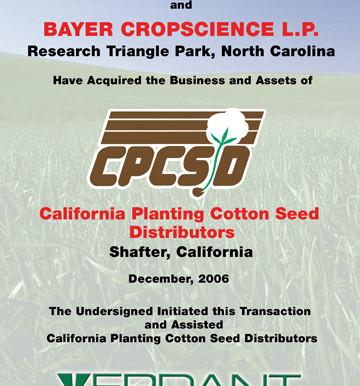 California Planting Cotton Seed Distributors