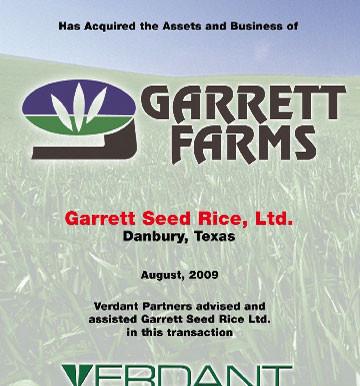 Garrett Seed Rice, Ltd