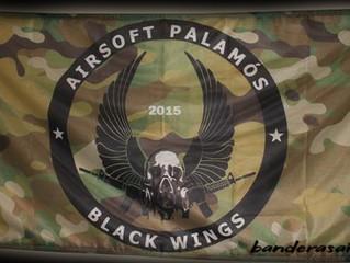 Black Wings bandera personalizada