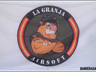 "Bandera personalizada ""LA GRANJA"""