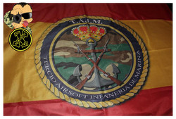 Bandera personalizada airsoft TAIM