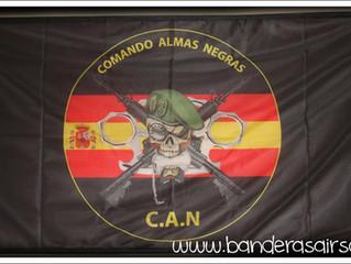 Bandera personalizada Comando Almas negras