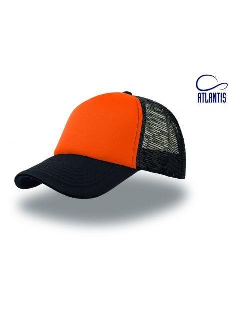 Gorra naranja/negra