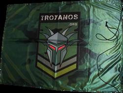 bandera personalizada Troyanos