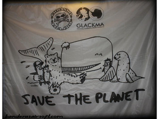 Save the Planet bandera de 2 x 1,55 metros
