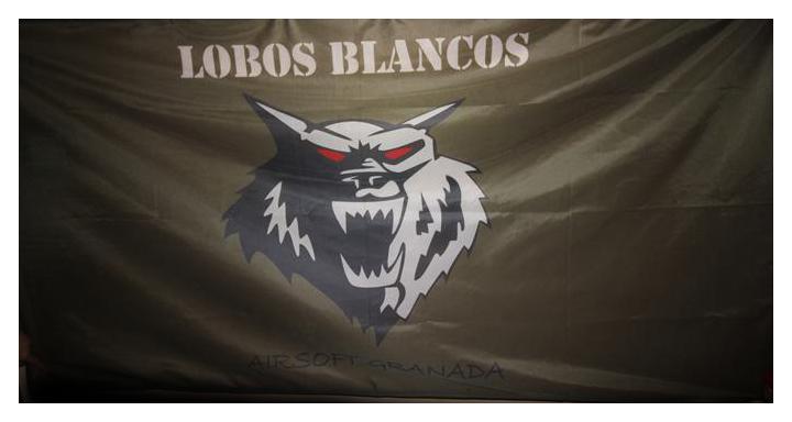 Bandera personalizada Lobos Blancos