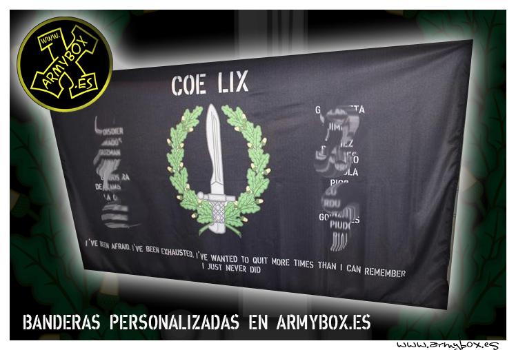 Bandera personalizada COE