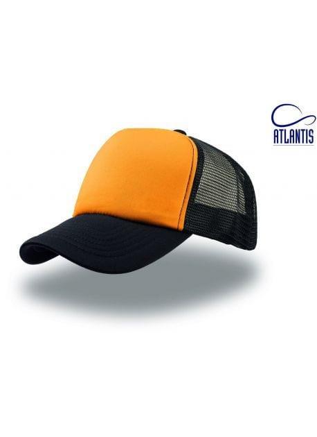 Gorra negra/naranja