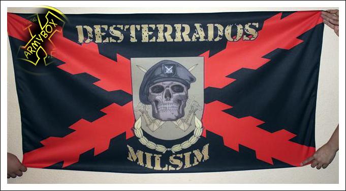 Bandera personalizada Desterrados Milsim