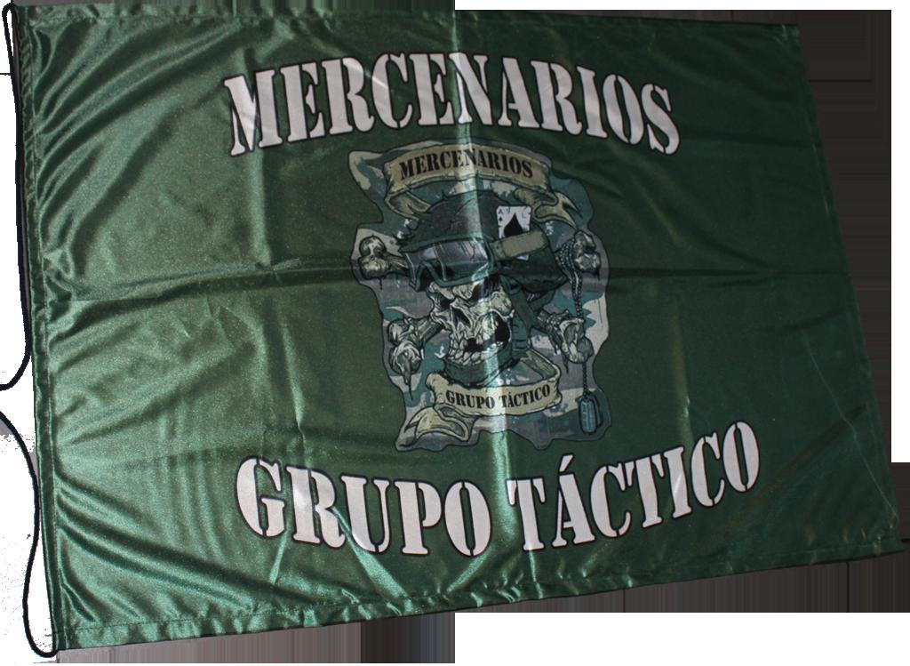 bandera personalizada mercenarios