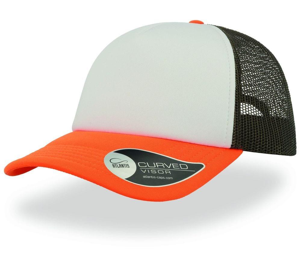 Gorra naranja/negra/blanca
