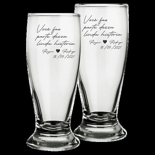 Copos de Vidro Personalizado Tulipa Modelo Munich para Cerveja 300ml