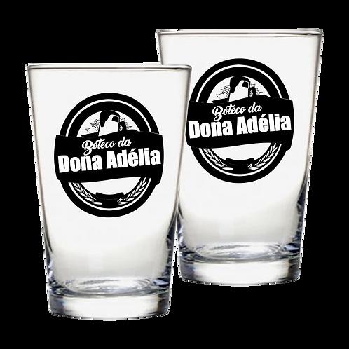 Copos de Vidro Personalizado Modelo Caldereta para Cerveja 350ml
