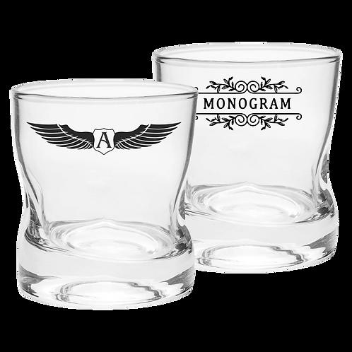 Copos de Vidro Personalizado Modelo Amassadinho de Whisky 250ml