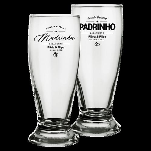 Copos de Vidro Personalizado Tulipa Modelo Munich para Cerveja 200ml