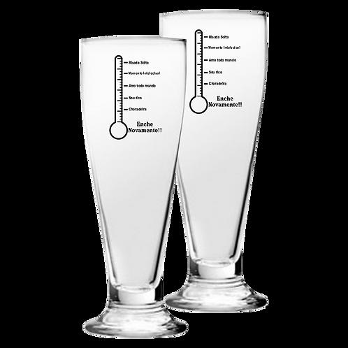 Copos de Vidro Personalizado Modelo Tulipa para Cerveja 300ml