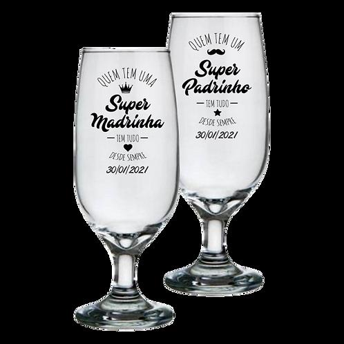 Taça de Vidro Personalizada Modelo Floripa para Cerveja 300ml