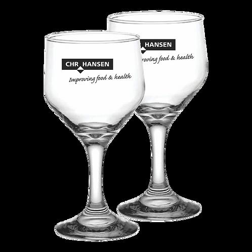Taça de Vidro Personalizada Modelo Bistrô para Vinho Tinto e Branco 260ml