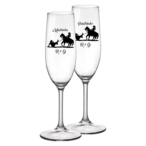 Taça de Vidro Personalizada Modelo Rioja para Champanhe 180ml
