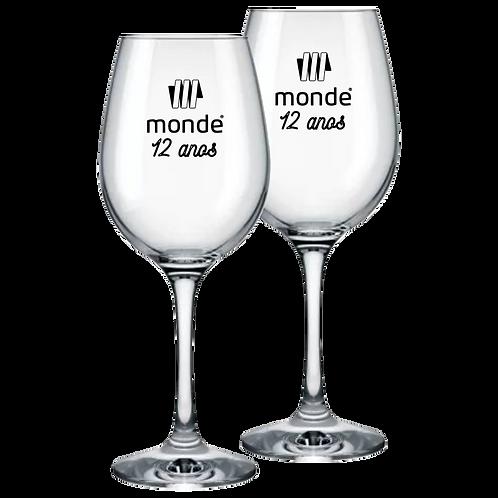 Taça de Vidro Personalizada Modelo Barone de Vinho 385ml