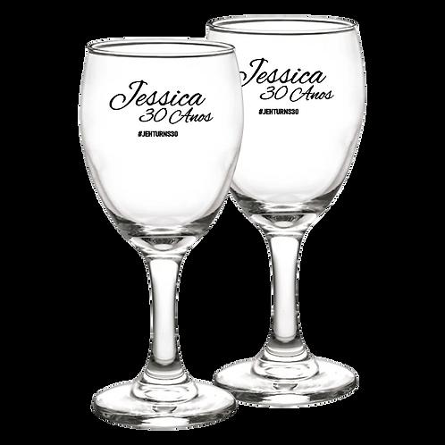 Taça de Vidro Personalizada Modelo Aragon Água 300 ml