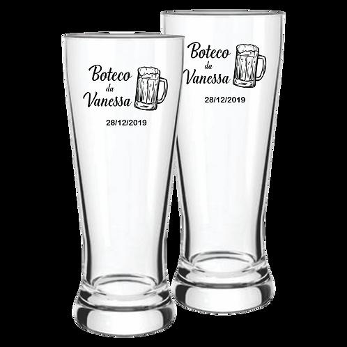 Copos de Vidro Personalizado Modelo Lager para Cerveja 300ml