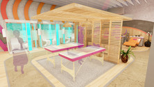 Chakra crystal mat and salt booths
