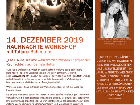 Rauhnächte Workshop mit Tatjana Bühlmann 14.12.2019