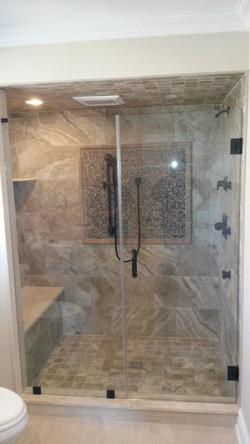 Inline shower