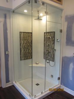 90 degree steam shower