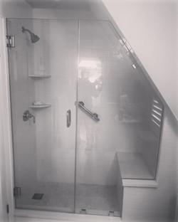 shower angled