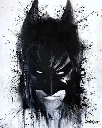 Dark Knight painting by the street artis