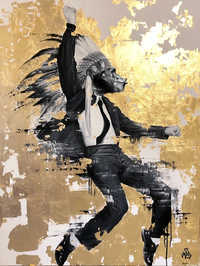 Let`s dance - painting by the street art